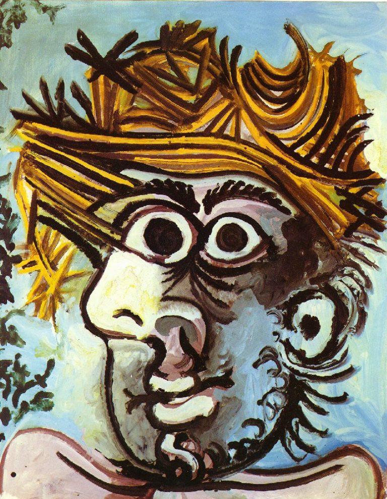 Picasso-tete-homme-chapeau-paillejpg