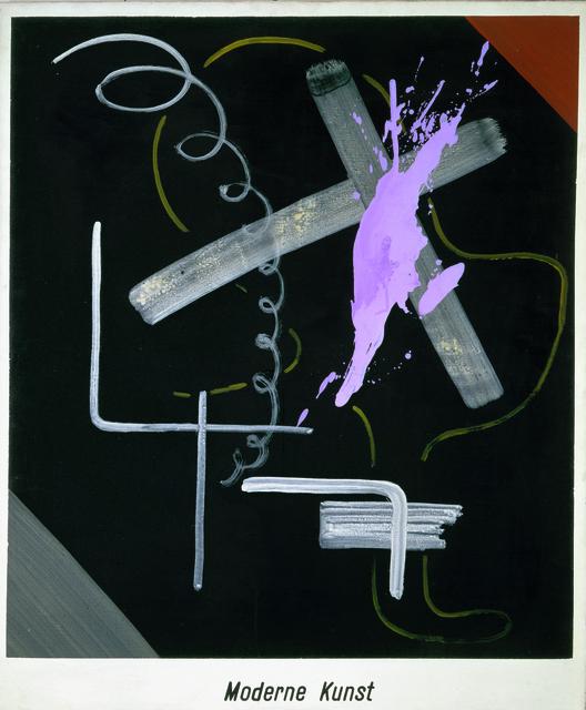 Sigmar Polke, Moderne Kunst, 1968. Acrylique et laque sur toile, 150 x 125 cm. Froehlich Collection, Stuttgart.