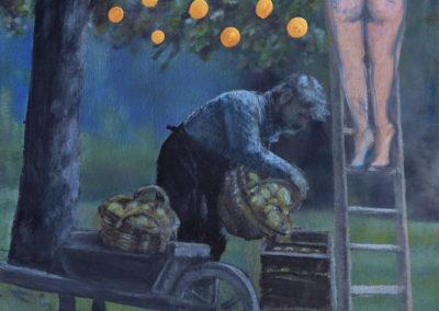 "FABIEN BOITARD ""Eve et Adam"" - 2017 - huile sur toile, 120X150 cm"