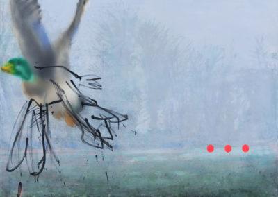 "FABIEN BOITARD ""Canardé"" - 2014 - 139x190cm, Huile sur toile"
