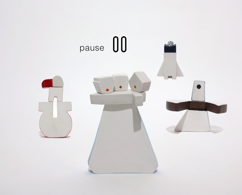 Elodie Dornand de Rouville - Pause _ Mogu totems, 2019, porcelain