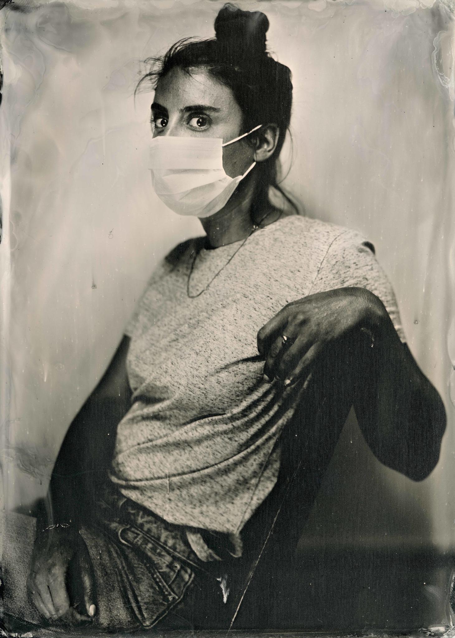 Portrait masque ferrotype 2020 © Jonathan Pierredon