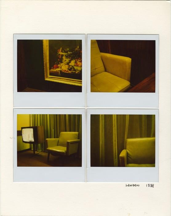 Série Interiors, Sans titre, 1988, polaroids contrecollés sur carton © Graziano Arici